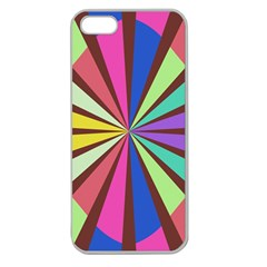 Rays in retro colors Apple Seamless iPhone 5 Case (Clear)
