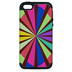 Rays in retro colors Apple iPhone 5 Hardshell Case (PC+Silicone)
