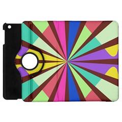 Rays in retro colors Apple iPad Mini Flip 360 Case