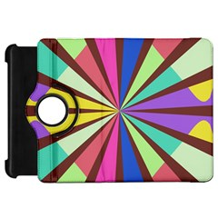 Rays in retro colors Kindle Fire HD Flip 360 Case