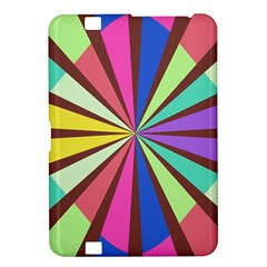 Rays in retro colors Kindle Fire HD 8.9  Hardshell Case