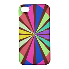 Rays In Retro Colors Apple Iphone 4/4s Hardshell Case With Stand