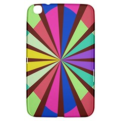 Rays in retro colors Samsung Galaxy Tab 3 (8 ) T3100 Hardshell Case