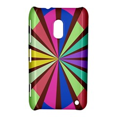 Rays in retro colors Nokia Lumia 620 Hardshell Case
