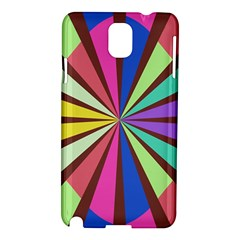 Rays in retro colors Samsung Galaxy Note 3 N9005 Hardshell Case