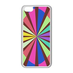 Rays in retro colors Apple iPhone 5C Seamless Case (White)