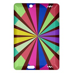 Rays in retro colors Kindle Fire HD (2013) Hardshell Case