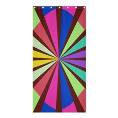 Rays in retro colors	Shower Curtain 36  x 72