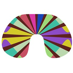 Rays in retro colors Travel Neck Pillow