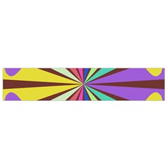 Rays in retro colors Flano Scarf