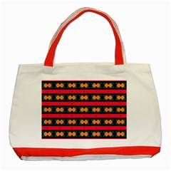 Rhombus and stripes pattern Classic Tote Bag (Red)