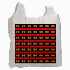 Rhombus and stripes pattern Recycle Bag (Two Side)