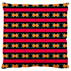 Rhombus and stripes pattern Large Cushion Case (Two Sides)