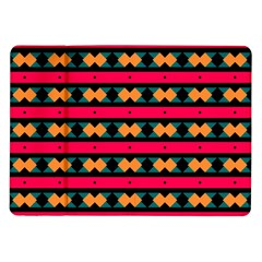 Rhombus and stripes pattern Samsung Galaxy Tab 10.1  P7500 Flip Case