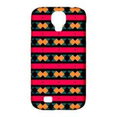 Rhombus and stripes pattern Samsung Galaxy S4 Classic Hardshell Case (PC+Silicone)