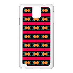 Rhombus and stripes pattern Samsung Galaxy Note 3 N9005 Case (White)