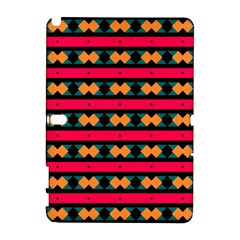 Rhombus and stripes pattern Samsung Galaxy Note 10.1 (P600) Hardshell Case