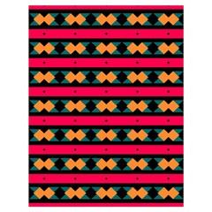 Rhombus and stripes pattern Large Drawstring Bag