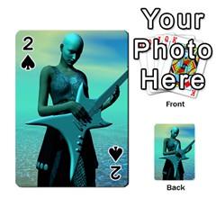 Sad Guitar Playing Cards 54 Designs