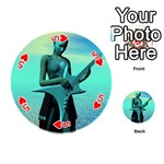 Sad Guitar Playing Cards 54 (Round)  Front - Heart5