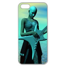Sad Guitar Apple Seamless iPhone 5 Case (Clear)