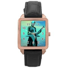 Sad Guitar Rose Gold Watches