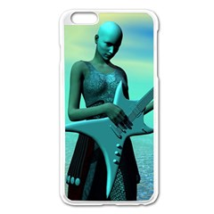 Sad Guitar Apple iPhone 6 Plus/6S Plus Enamel White Case