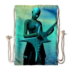Sad Guitar Drawstring Bag (large)
