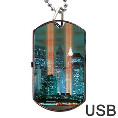 New York 2014 1206 Dog Tag Usb Flash (one Side)