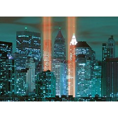 New York 2014 1206 Birthday Cake 3D Greeting Card (7x5)