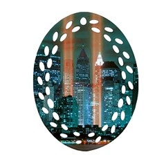 New York 2014 1206 Oval Filigree Ornament (2 Side)