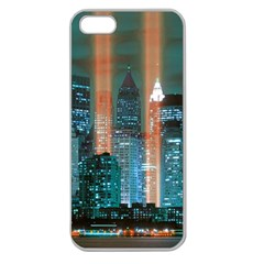 New York 2014 1206 Apple Seamless iPhone 5 Case (Clear)