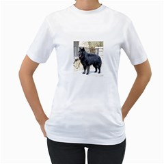 Belgian Shepherd Dog (groenendael) Full Women s T-Shirt (White) (Two Sided)