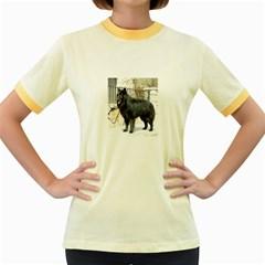 Belgian Shepherd Dog (groenendael) Full Women s Fitted Ringer T-Shirts