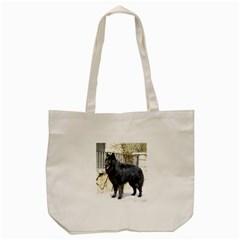 Belgian Shepherd Dog (groenendael) Full Tote Bag (Cream)