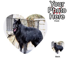 Belgian Shepherd Dog (groenendael) Full Multi-purpose Cards (Heart)