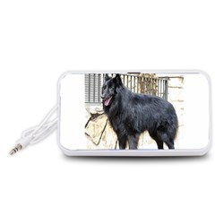 Belgian Shepherd Dog (groenendael) Full Portable Speaker (White)