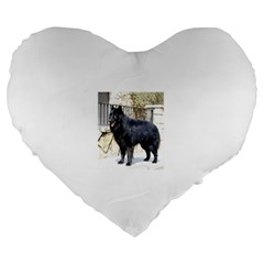 Belgian Shepherd Dog (groenendael) Full Large 19  Premium Heart Shape Cushions