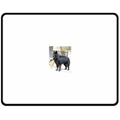 Belgian Shepherd Dog (groenendael) Full Double Sided Fleece Blanket (Medium)