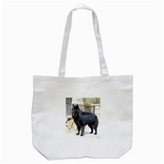 Belgian Shepherd Dog (groenendael) Full Tote Bag (White)