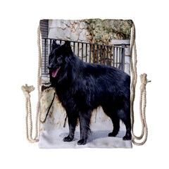 Belgian Shepherd Dog (groenendael) Full Drawstring Bag (Small)