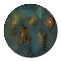 Broken Pieces Round Mousepads