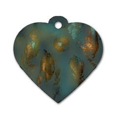 Broken Pieces Dog Tag Heart (One Side)