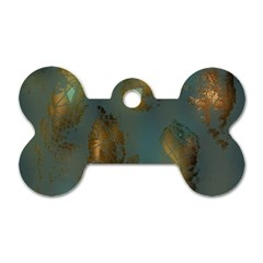 Broken Pieces Dog Tag Bone (One Side)