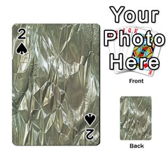 Crumpled Foil Playing Cards 54 Designs