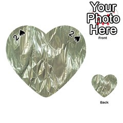 Crumpled Foil Playing Cards 54 (Heart)