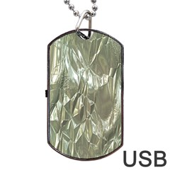 Crumpled Foil Dog Tag USB Flash (One Side)
