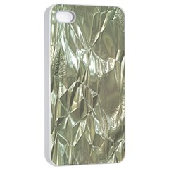 Crumpled Foil Apple iPhone 4/4s Seamless Case (White)