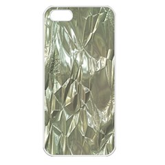 Crumpled Foil Apple iPhone 5 Seamless Case (White)