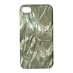 Crumpled Foil Apple iPhone 4/4S Hardshell Case with Stand